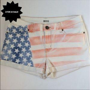 UO BDG American flag shorts mid rise alexia